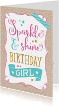 Verjaardagskaart Sparkle