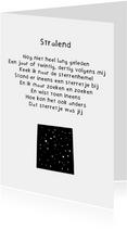 Verjaardagskaart Stralend - Gedicht