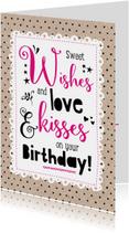 Verjaardagskaart Sweet Wishes