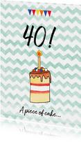 verjaardagskaart taart leeftijd