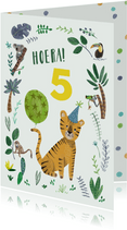 Verjaardagskaart tijger jungle