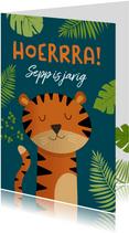 Verjaardagskaart tijger