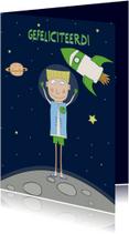 Verjaardagskaarten - Verjaardagskaart vanuit de ruimte!