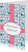 Verjaardagskaart vrouw rozen