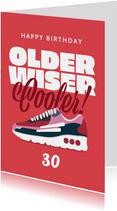 Verjaardagskaart vrouw sneakers sport happy birthday