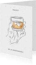 Verjaardagskaart whisky proost op je verjaardag