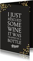 Verjaardagskaart wijn en humor