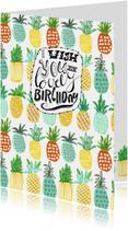 Verjaardagskaart Zomer Ananas