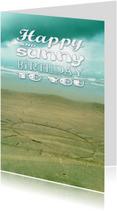 Verjaardagskaart zon strand