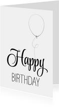 Verjaardagskaart ZwartWit - SG