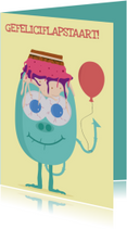 Verjaardagskaartje Feestvarken!