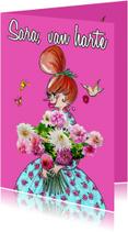 Vijftig met bloem