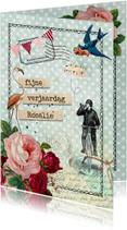 Vintage Verjaardagskaart