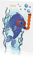 Vis aan het snorkelen