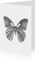 Vlinder zwart/wit Illustratie