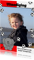 Voetbal rood wit Olifant