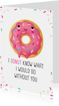 Vriendschapskaart donut grappig lief