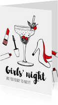 Vriendschapskaart Girls Night