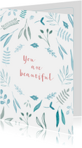 vriendschapskaart You are beautiful