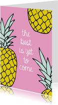 Vrolijk ananas zomer kaartje