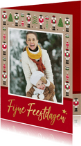 Vrolijke moderne kerstkaart met notenkrakers en eigen foto