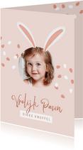 Vrolijke paaskaart paashaas paaseieren foto kinderen