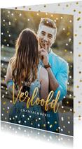 Vrolijke verlovingskaart of uitnodiging verlovingsfeest