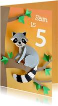 Wasbeer verjaardagskaart