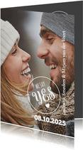 We say yes trouwkaart