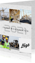 Weihnachtskarte Bauunternehmen Fotocollage