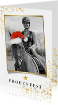 Weihnachtskarte eigenes Foto Pferd
