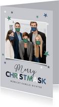 Weihnachtskarte Firma Corona-Masken
