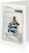 Weihnachtskarte Foto Goldrahmen klassisch
