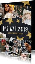 Weihnachtskarte Fotocollage das war 2019