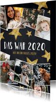 Weihnachtskarte Fotocollage das war 2020