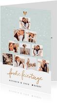 Weihnachtskarte Fotocollage Tannenbaum