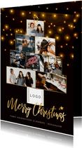 Weihnachtskarte Fotocollage Weihnachtsbaum