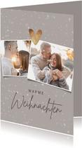 Weihnachtskarte Fotos, Schnee & Herz