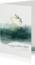 Weihnachtskarte Friedenstaube mit Zweig