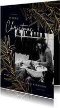 Weihnachtskarte Friseursalon Foto