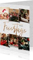 Weihnachtskarte Frohe Feiertage Fotocollage
