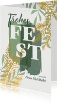 Weihnachtskarte 'Frohes Fest' botanisch