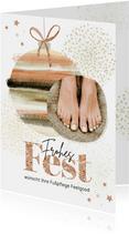 Weihnachtskarte für Fußpflege