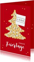 Weihnachtskarte geschäftlich Weihnachtsbaum aus Münzen