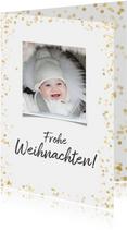 Weihnachtskarte Goldkonfetti mit Foto