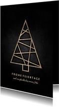Weihnachtskarte grafischer Weihnachtsbaum