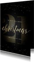 Weihnachtskarte große 21 und handgeschrieben Christmas