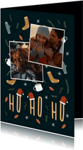Weihnachtskarte ho, ho, ho schöne Illustrationen und Fotos