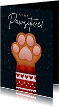 Weihnachtskarte Hundepfote