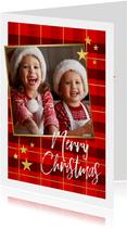 Weihnachtskarte Karo Hintergrund mit Foto